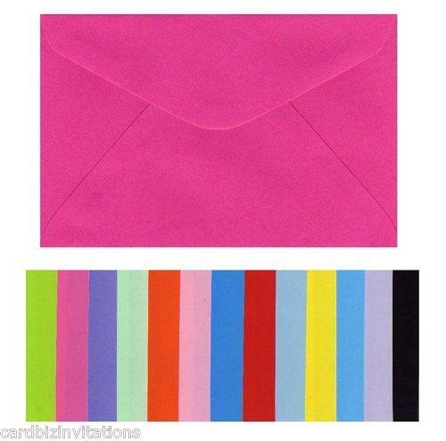 C6 envelopes, dozens of colours.