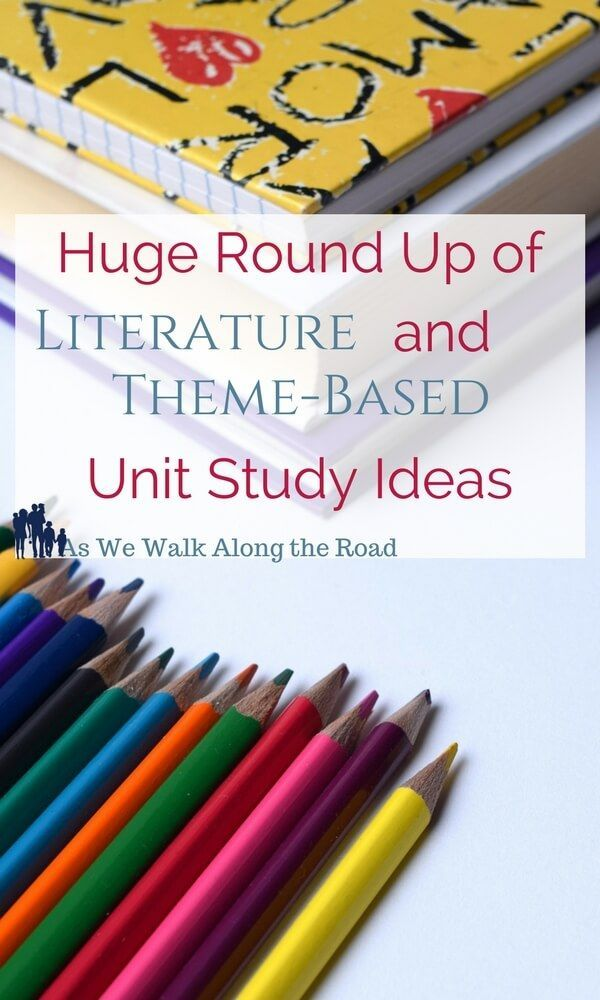Looking for unit study ideas? This post is a huge round up of literature-based and thematic unit studies.
