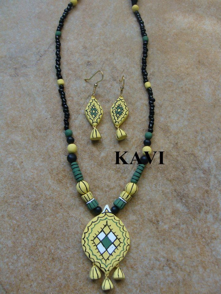 Simple handmade terracotta chain https://www.facebook.com/KavisTerracottajewellery