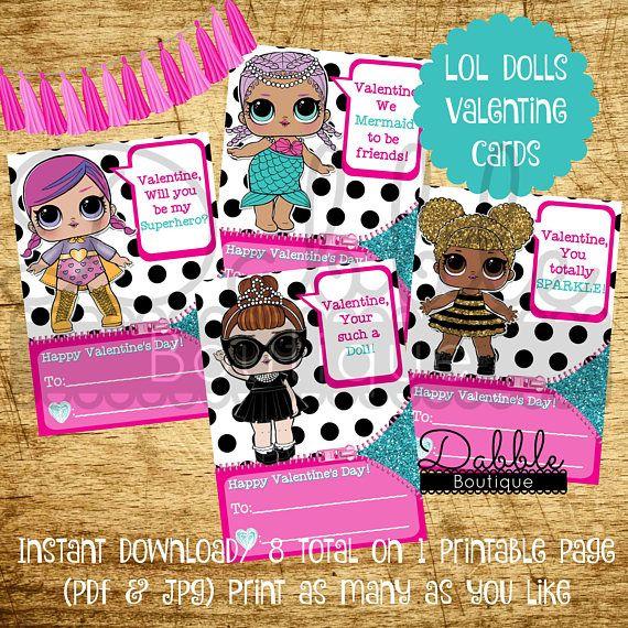 LOL Surprise Dolls Valentine's Day Card / L.O.L Surprise