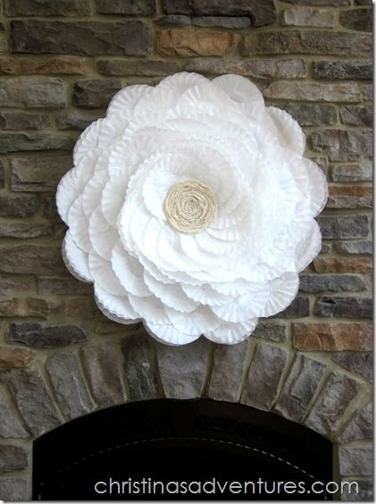 Huge coffee filter flower