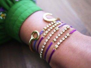 Come realizzare dei braccialetti con gli strass fai-da-te