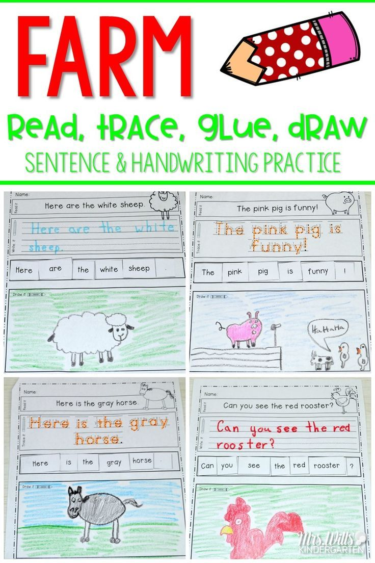 Fun on the farm with color words and barnyard friends.   Students will read, write, re-arrange, and illustrate these sentences:   Two levels of this activity are included: Level one (10 pages)-students trace, Level two (10 pages)-students write.  This can be used as a center activity, morning work, handwriting or independent practice.