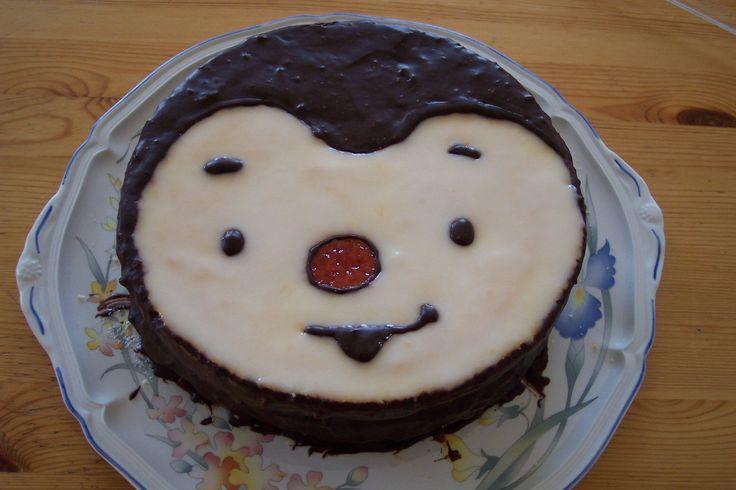 gâteau tchoupi pour son anniversaire !