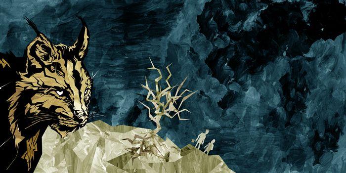 Illustration for Mokoma band by Ville Pirinen