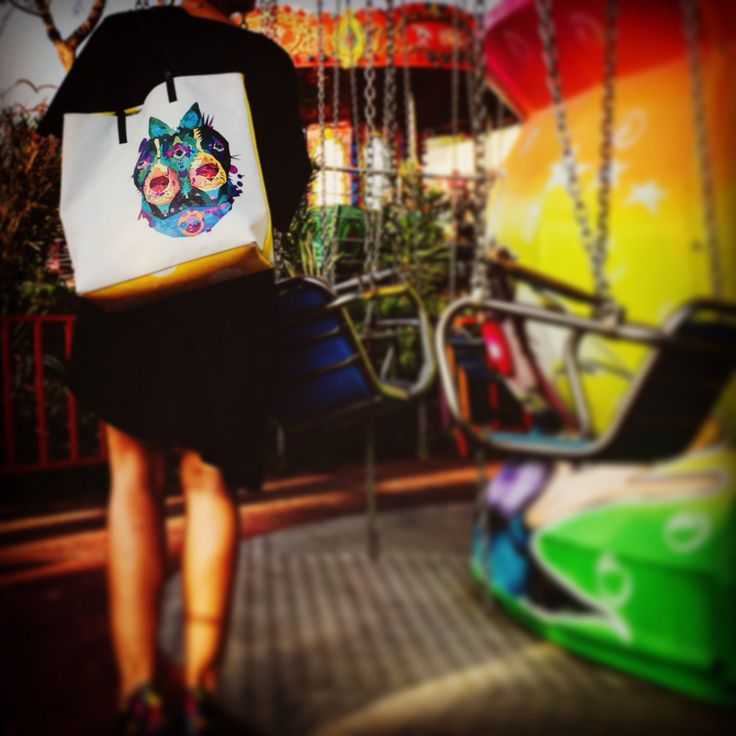 Printed tote bag by kulik