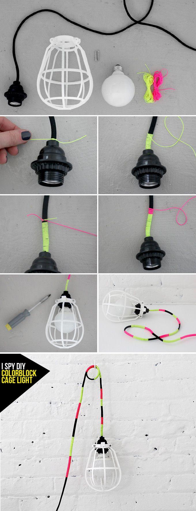 MY DIY | Colorblock Cage Light | I SPY DIY