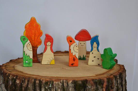 Fairytale Toy Set Elves Gnomes & Fairies Waldorf Wood Toys