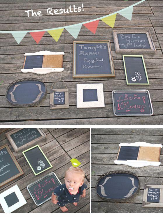 Turn Frames into Chalkboards