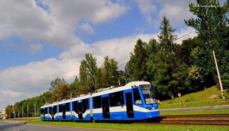 Kraków, tramwaj Protram 405N #4001. Najdłuższe tramwaje w Polsce. - #Krakow, #tramwaj, #tram