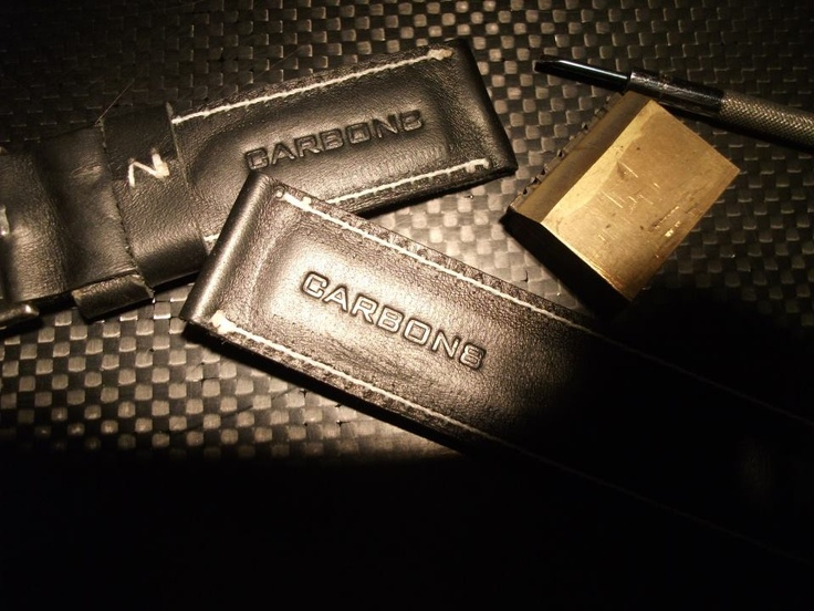 Hand crafted leather straps by Carbon8.