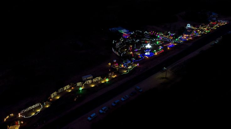Christmas Wonderland Loxton from a drone