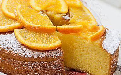 Torta all'arancia e yogurt soffice ricetta