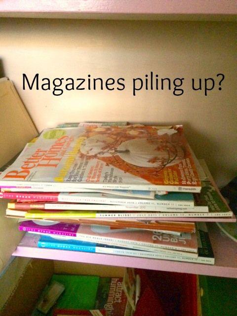Spring Cleaning - Magazine Organization - Organized Island