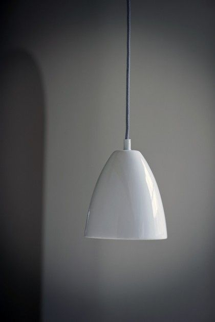 Chalky White Ceramic Ceiling Light with Ceiling Rose