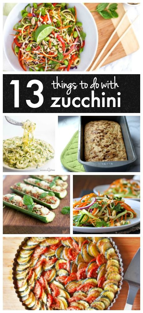 Need ideas for zucchini recipes? Here are 13 things you can do with all that leftover zucchini!