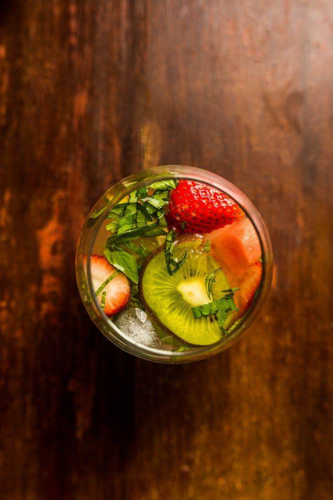 Watermelon Strawberry Basil Sangria