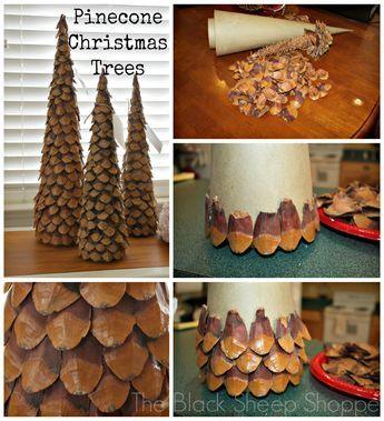 DIY Pinecone Christmas Trees