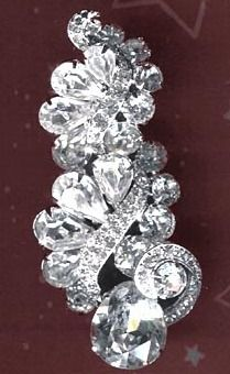 Vintage Eisenberg Crystal Rhinestone Brooch