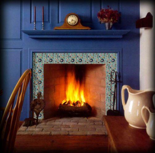Fireplace tiles mantels