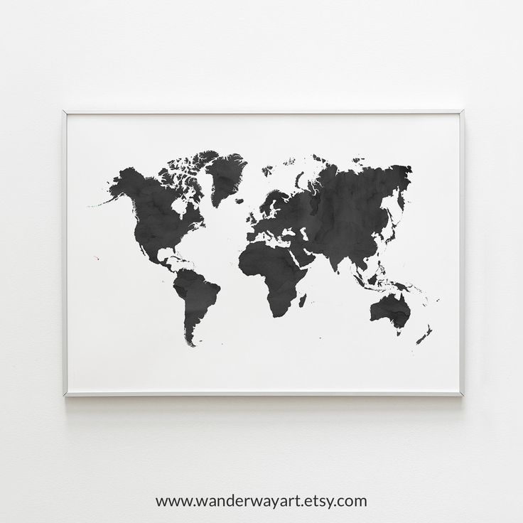 World Map Wall Art Travel Map World Map Poster Black World Etsy Map Wall Art World Map Art World Map Printable