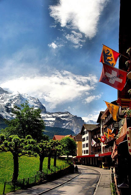 Wengen Street View, Switzerland