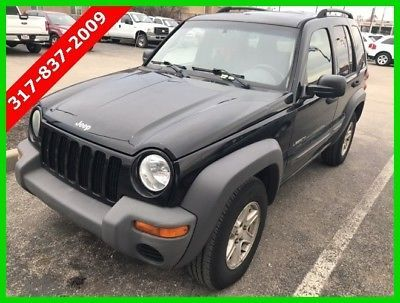 Jeep Liberty Sport 2004 Sport No Reserve Used 3.7L V6 12V Manual 4WD SUV