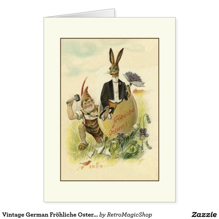 Vintage German Frohliche Ostern Easter Card