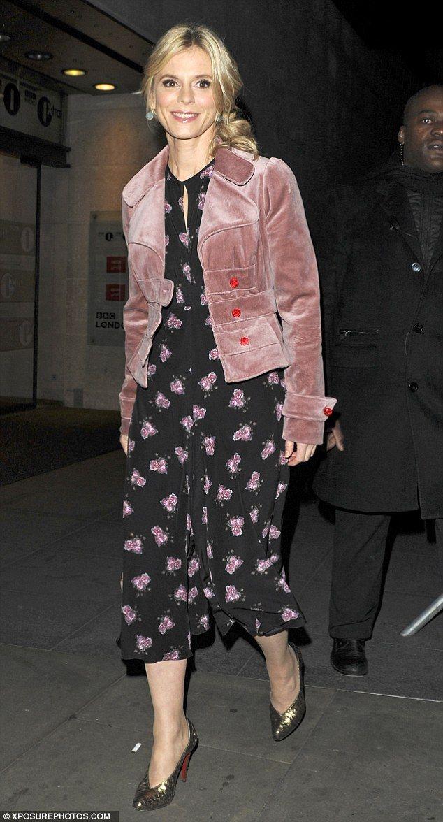Stylish outing: Emilia Fox was looking ladylike as she left BBC Studios on Monday night af...