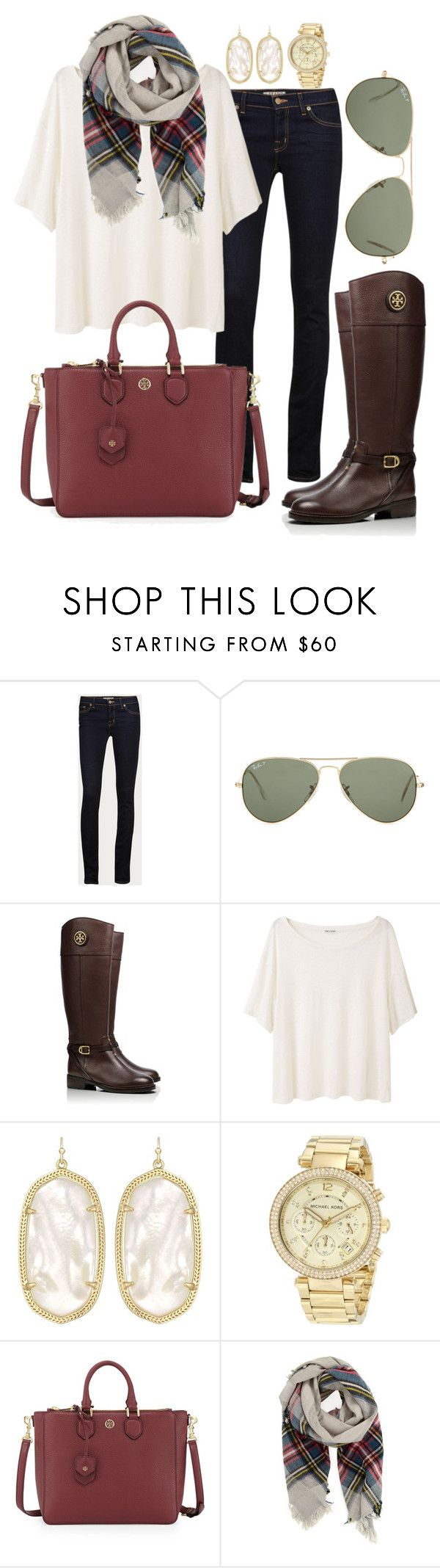 """""""Fall hues"""" by pretty-and-preppy ❤ liked on Polyvore featuring J Brand, Ray-Ban, Tory Burch, Acne Studios, Kendra Scott, Michael Kors and Forte Forte"""