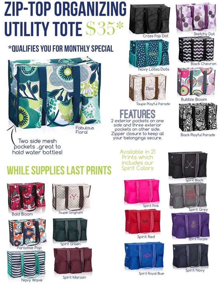 31 Uses For Thirtyone Ziptop Organizing Utility Tote T