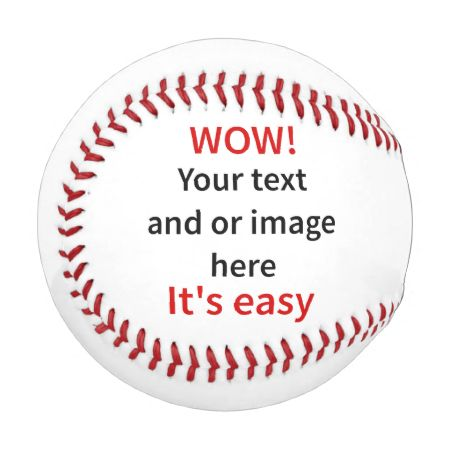 Customizable Template Make Your Own Baseballs
