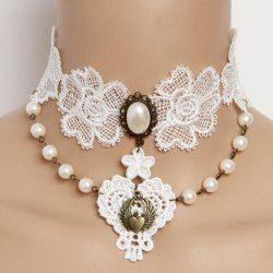 Wholesale Gothic Style Faux Gem & Tassels & Rose Design Women's Lace Necklace (AS THE PICTURE), Necklaces - Rosewholesale.com