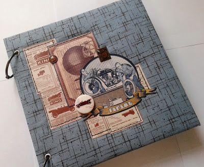 """Волшебный мир ручной работы от Glenna: Мужской фотоальбом """"Гараж"""""""