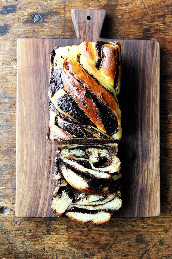 Holly's Babka Orange Zest and Vanilla Challah Bread with a chocolate filling    Alexandra Cooks