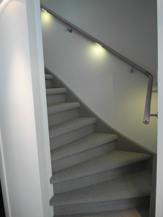 White Oak Wood Design Illuminated Handrail