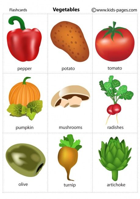Kids Pages - Vegetables 2. Free printable flashcards--perfect for ESOL students! Re-pinned by @Laurie Moulton (Elementary ESL).