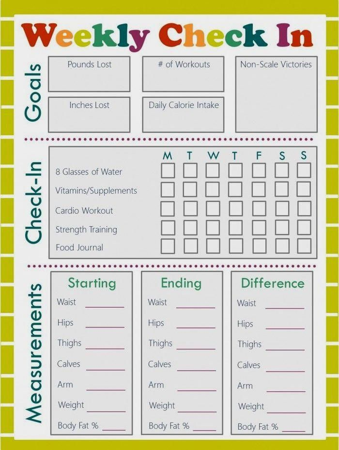 Download these free fitness journal and meal planning printables to