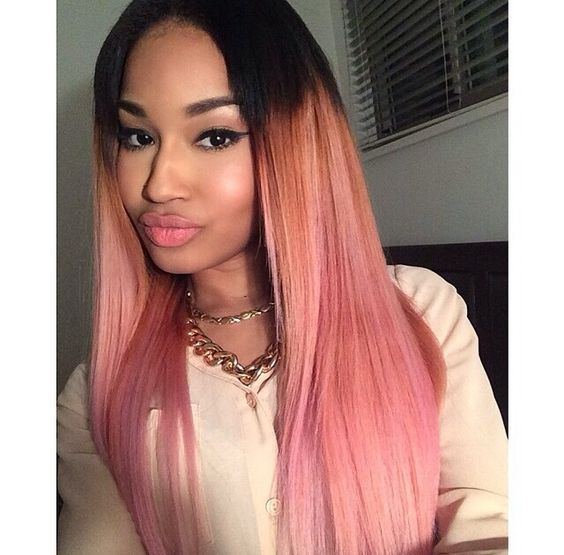 Pink Ombre Achieve This Look With Mayvenn S Blonde
