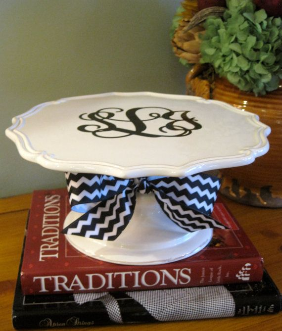 Personalized Cake Stand12 inch by twosisters76 on Etsy, $27.00