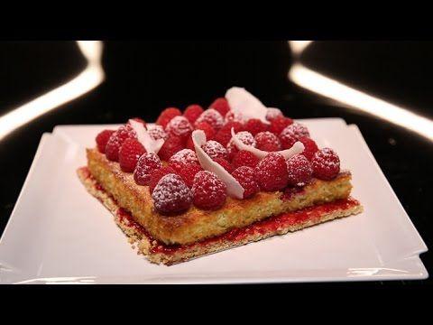 Tarte aux framboises et moelleux coco par Christophe Michalak (#DPDC) - YouTube