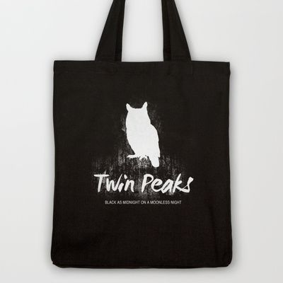 Twin Peaks no 2 Tote Bag by OurbrokenHouse - $18.00
