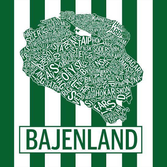Print Bajenland i färgen hemmaränder