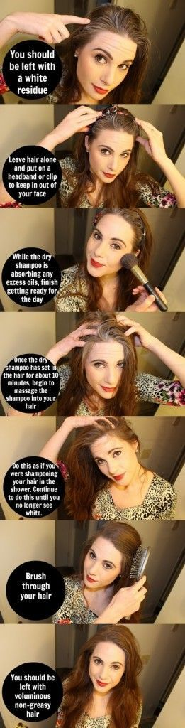How to use dry shampoo correctly. ive been doing it wrong!:(