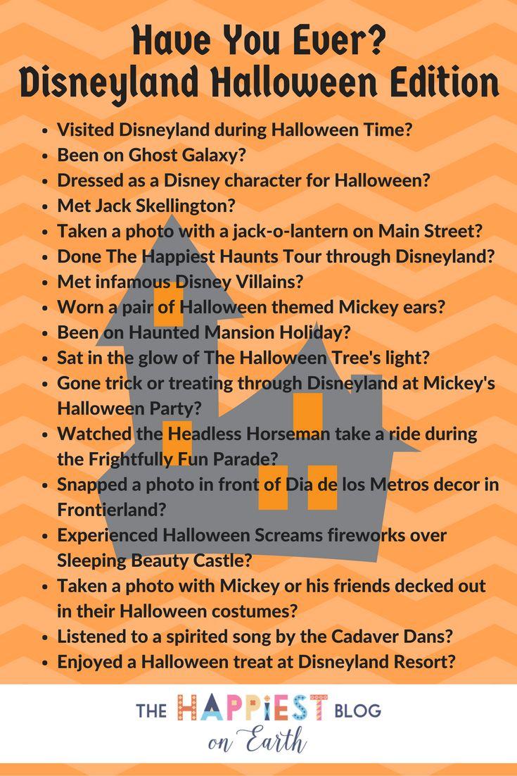 Have you ever? Disneyland Halloween Edition