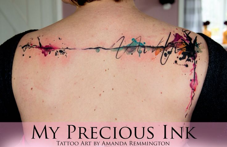 Abstract Watercolor Tattoo My Precious Ink www.mypreciousink.com
