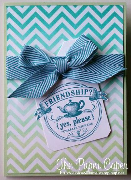 http://jessicawilliams.stampinup.net  Stampin' Up! Positively Chevron & From My Heart