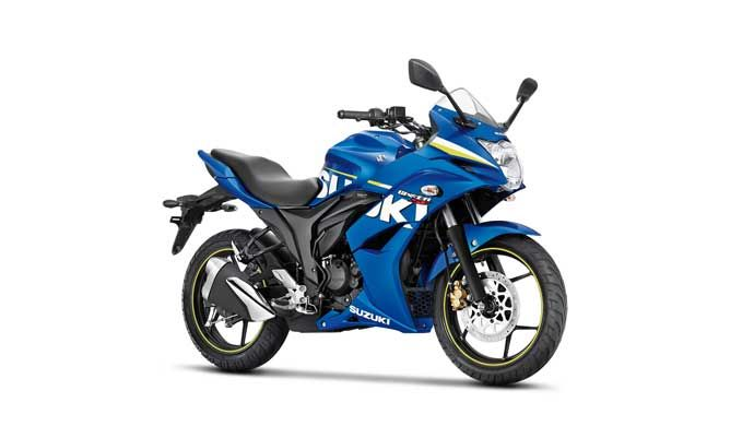 Suzuki Gixxer SF in Metallic Triton Blue with MotoGP inspired Suzuki livery Suzuki has launched their latest creation, the Gixxer SF, in India and priced it at Rs. 83,439/- (ex-showroom Delhi) which is highly competitive for a street sports motorcycle in India.