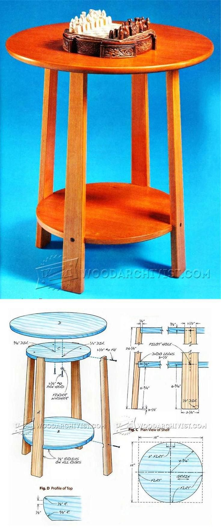Side Table Plans - Furniture Plans and Projects | WoodArchivist.com