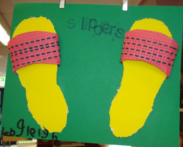 Slippers borduren